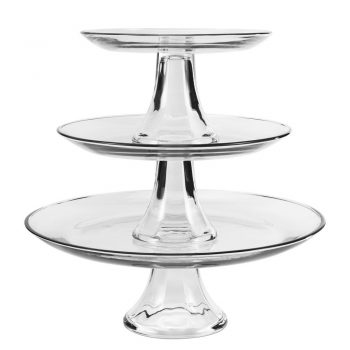 Glass 3-Tier Cake Stand