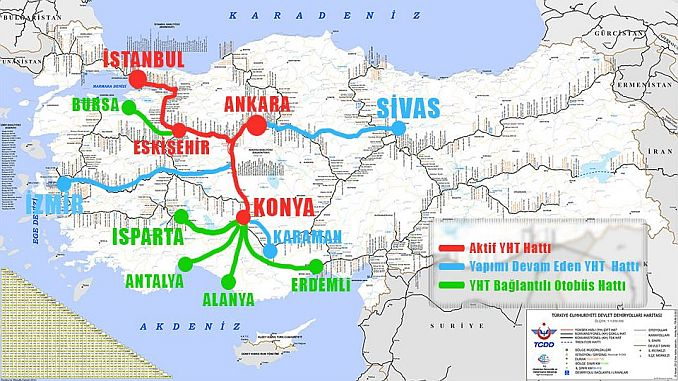 High Speed Train Lines Map