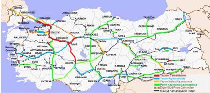 Bursa Bilecik High Speed Railway Line