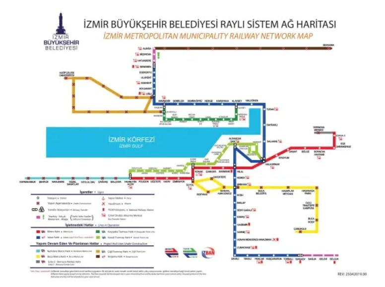 izmir metro map high conunurluk