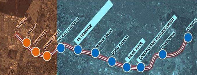 İkitelli Ataköy Metro istasyonları