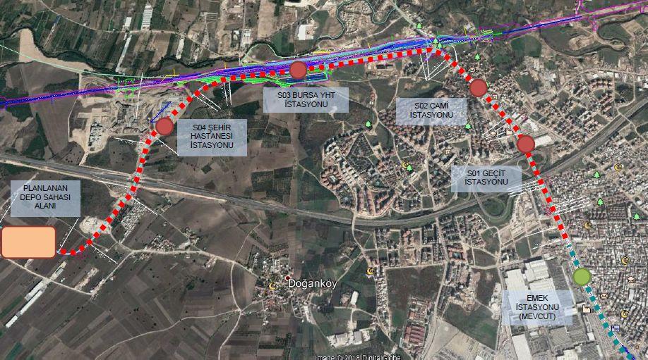 Bursa Sehir Hastanesi Metro Haritası