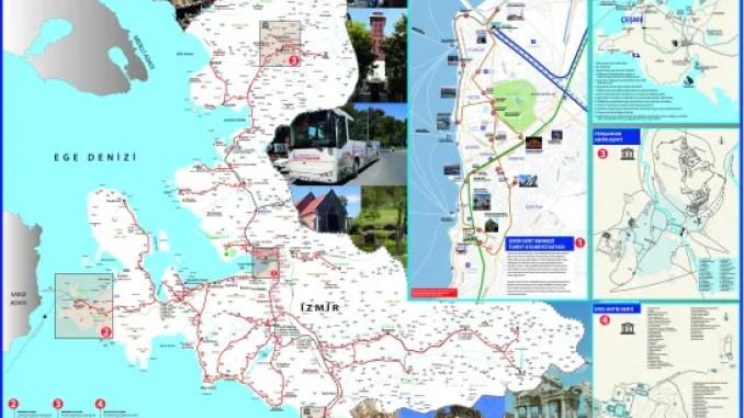 Izmir Tourist Guide Map