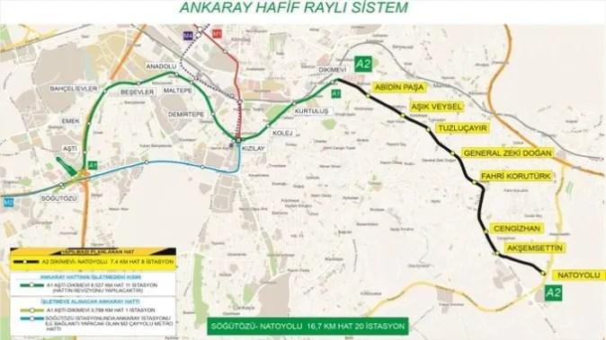 Mamak metro haritası ve durakları
