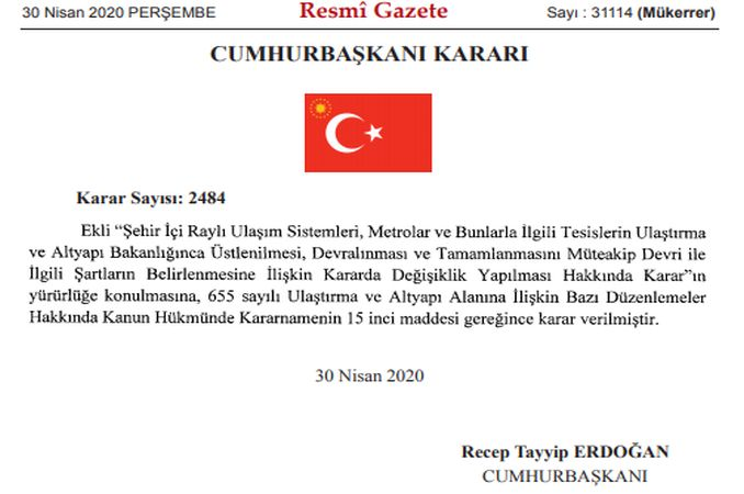 basaksehir kayasehir metro line will be made by the ministry