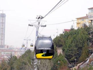 Ankara's first gondola lift