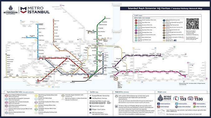 Ստամբուլի մետրոյի քարտեզը