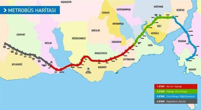 seyahat bilgileri metrobus haritalari