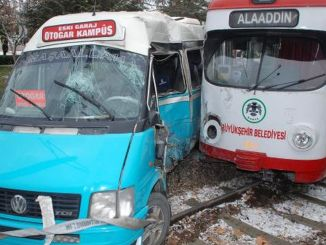 Tram accident in konya, students were getting hurt while going to school