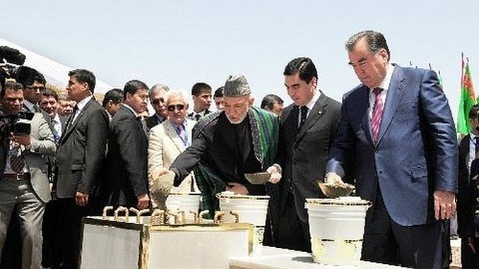 turkmenistan afghanistan tajikistan railway started with the participation of the state president
