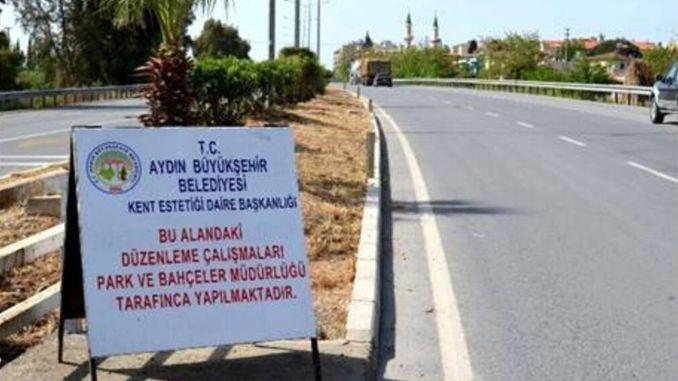 aydin buyuksehir municipality seized the highway in the street