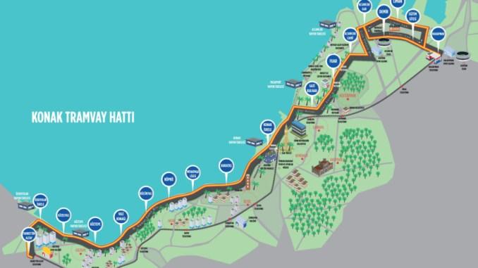 host tram map