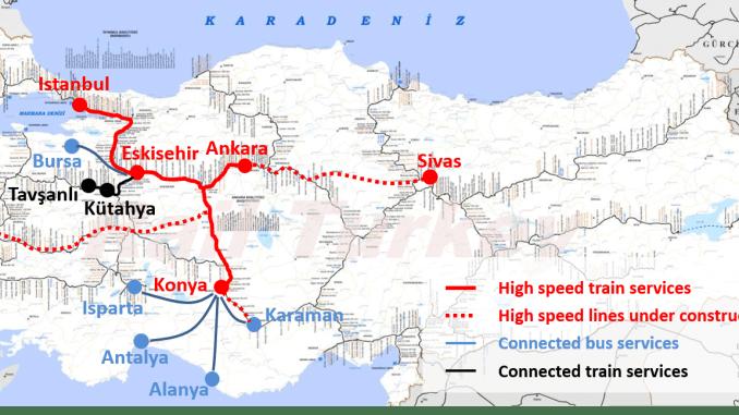 High Speed Rail Lines Turkey