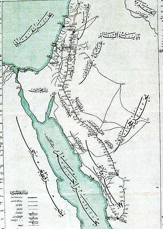 ottoman hijaz railway map