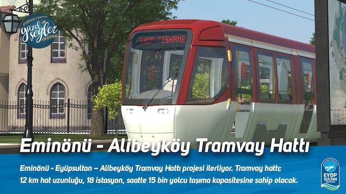 eminonu alibeykoy tram