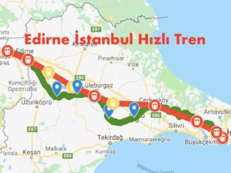Edirne Istanbul Hizli Tren Haritasi