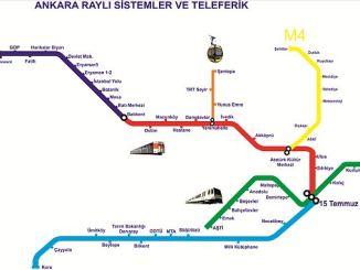 Ankara Metro Lines Stations