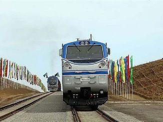 turkmenistan afganistan tacikistan demiryolu hattinin ilk etabi acildi