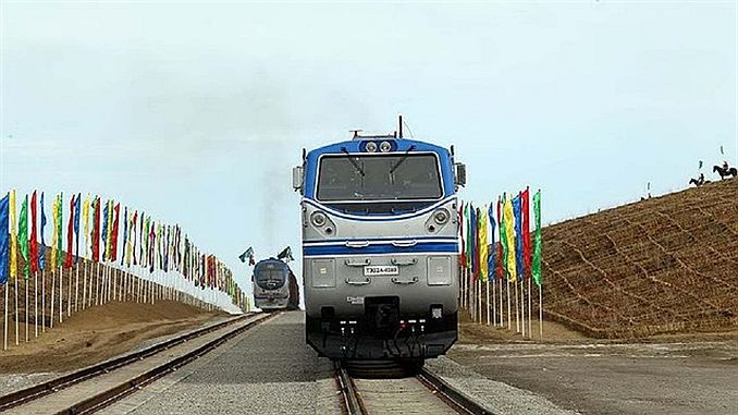 turkmenistan afghanistan rushed the first line of the railway line
