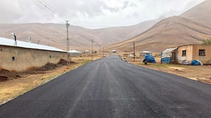 Road work at the abali ski resort