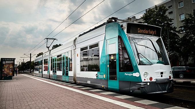 first motorless tramway in Germany goes into service in Germany
