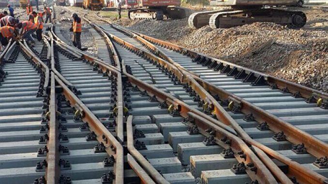 Reparación y mantenimiento de tijeras ferroviarias.