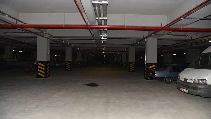 500 vehicle underground car park