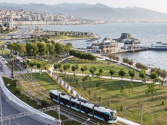 Количество пассажиров с измирским трамваем 21 Million Asti