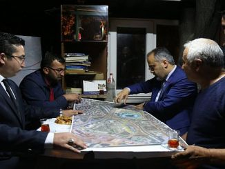 baskan aktas explained the transportation projects to the taxi drivers