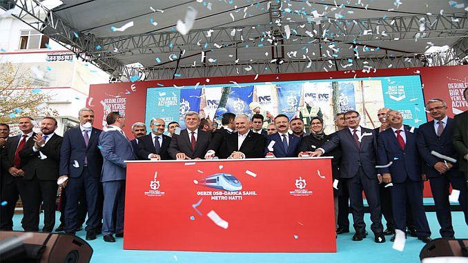 kocaelide 5 billion lyrical gebze darica laid the foundation of subway project