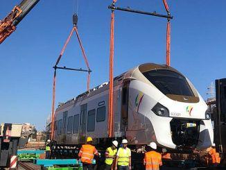 Die eerste trein het die projek van senegal ter bereik