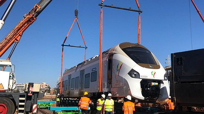 the first train reached the project of senegal ter