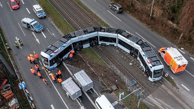 truck and tramcar in Germany