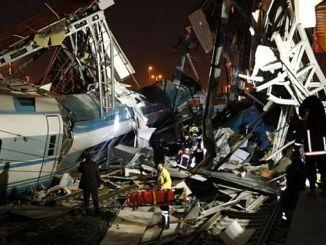 Анкара Чпли Sertel будет закрыт для этой аварии поезда