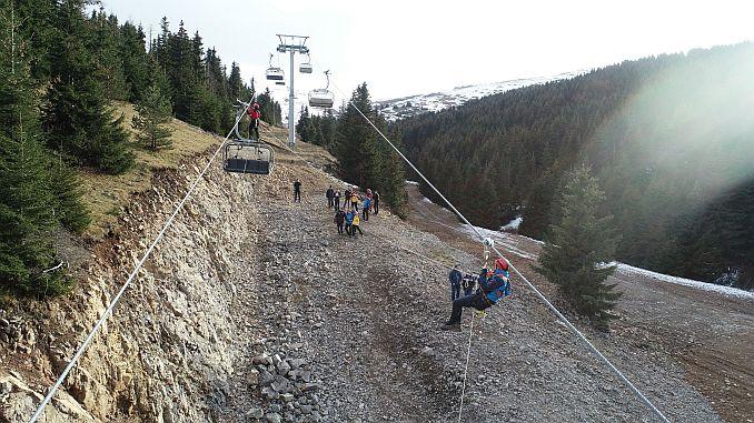 breathtaking drill in cambasi ski resort