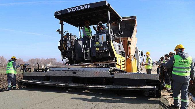 concrete road application in Eskisehir started inonude