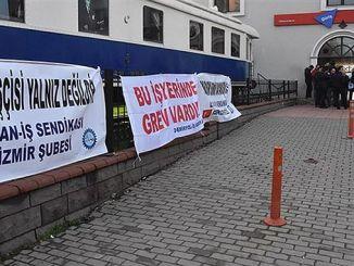 izmirlilerden υποστήριξη για izban απεργία