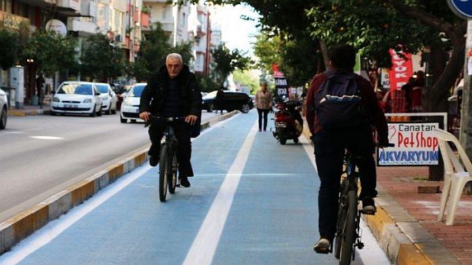 konyaaltindan laraya 28 kilometrelik bisiklet yolu