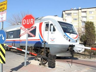 traffic and information signs at level crossings at the sivas samsun line