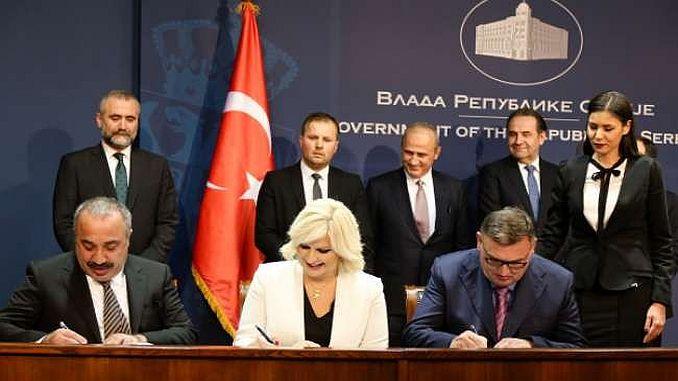समझौते के साथ सर्बिया टर्की हाईवे निर्माण के बीच हस्ताक्षर किए गए थे