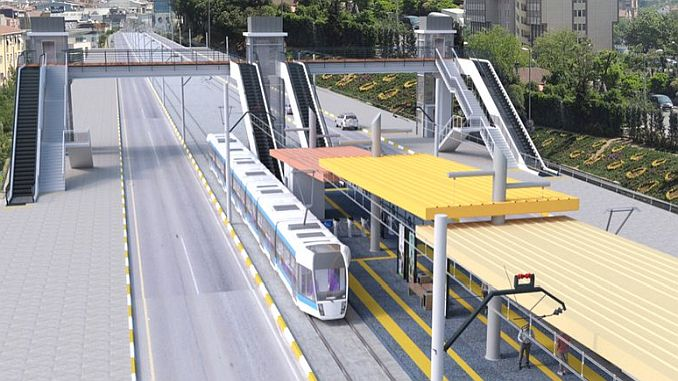 if there is a bus station in the tram line trial surusleri subatta
