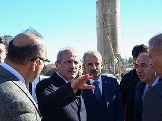 فحص الوزير تورهان أعمال الطرق في أنطاليا