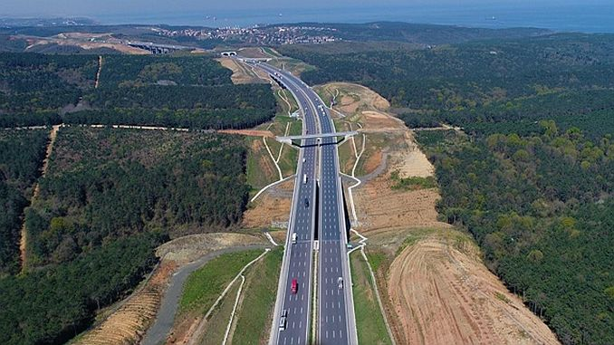 changes in the development plan of the northern marmara highway
