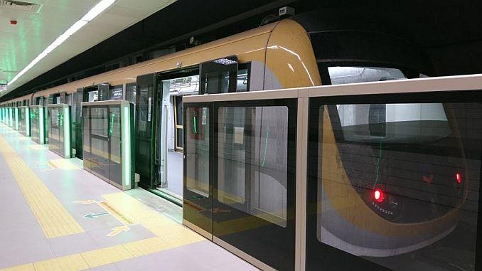mecidiyekoy começa a testar o aumento do teste no metrô mahmutbey