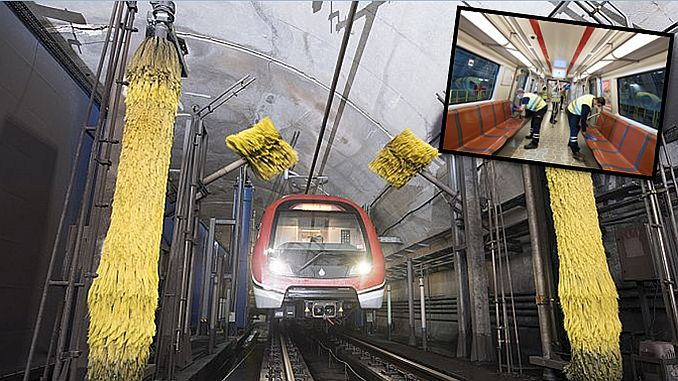 metro podzemne željeznice s najčišćim podzemnom željeznicom podzemne željeznice uvijek je čista