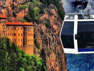 sumela manastiri teleferik projesi icin ihaleye cikiliyor