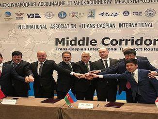 tcdd deltar i transporten av Trans-Caspian International Transport Association