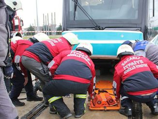 Akçaray Crash Drill in Transportation Park