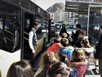 mass transportation training for children in afyonkarahisarli