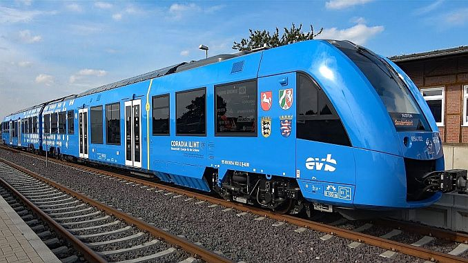 trains run with hydrogen in six states of Germany